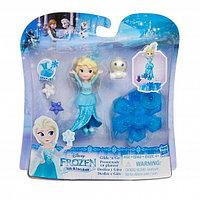 H B9249 FRZ Маленькая кукла Холодное Сердце  на движущейся платформе-снежинке