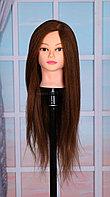 Голова-манекен шатен волос натуральный животный Як (100%) - 60 см