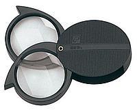 Карманная лупа Magnifying Glass, с двойными линзами., фото 1