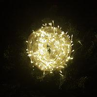 """Светодиодная гирлянда """"Нить"""" - 100 метров, 510 лампочек, теплый свет, светит постоянно"""