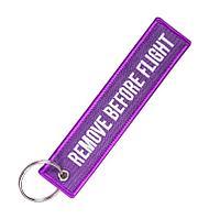 Брелок-ремувка Remove before flight, фиолетовый цвет