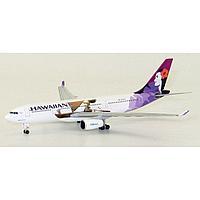 "Модель самолета Airbus A330-200 N391HA в ливрее Hawaiian ""Moana"", масштаб 1/500"