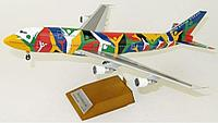 "Модель самолета Boeing 747-300 ZS-SAJ в ливрее SAA ""Ndizani"", масштаб 1/200"