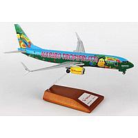"Модель самолета Boeing 737-800 D-ATUJ в ливрее Tuifly ""Tropifrutti"", масштаб 1/200"