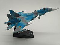 Модель самолета-истребителя Су-27 ОКБ Сухого, масштаб 1/100