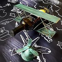 Подставка под бутылку, самолет, зеленый/бронзовый цвет