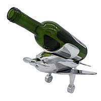 Подставка под бутылку, самолет, серебристый цвет