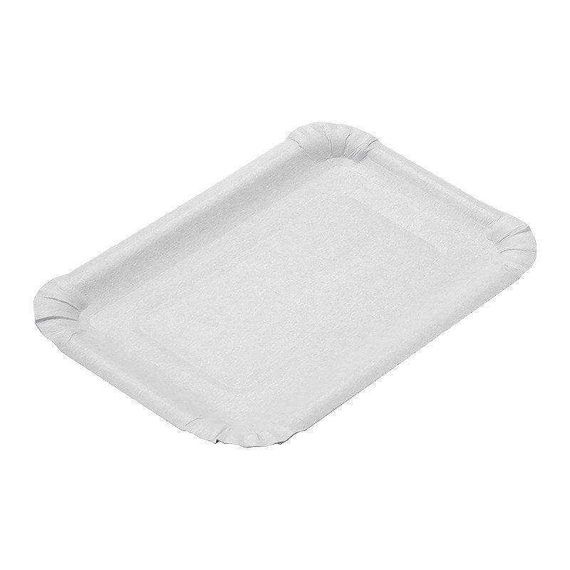 Тарелка 130х200мм толщина 0.55мм, белая, картон, 100 шт