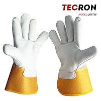 Перчатки комбинированные летние TECRON™ 201788 из натуральной овечьей кожи, фото 2