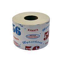 """Бумага туалетная 1 сл., """"56"""", на втулке, макулатура"""