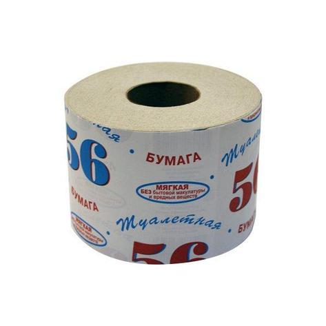 "Бумага туалетная 1 сл., ""56"", на втулке, макулатура, фото 2"