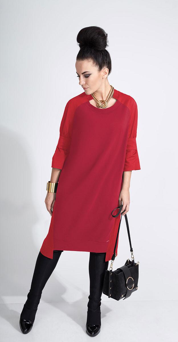 Платье ElPaiz-447/1, бордо, 50