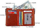 Кожаный бумажник с защитой RFID - Сохраните свои деньги!, фото 4