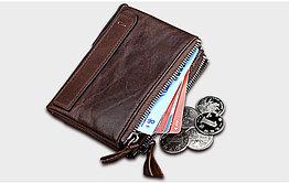 Кожаный бумажник с технологией RFID - Сохраните свои деньги!