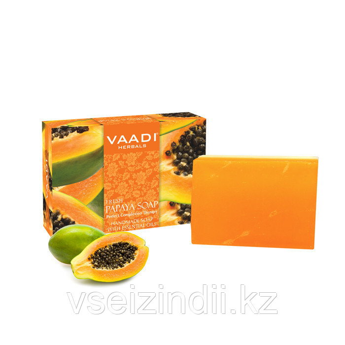Свежее мыло папайи. VAADI herbals 75 гр.
