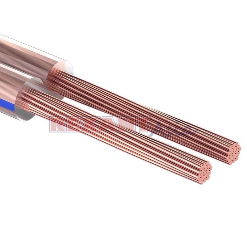 Кабель акустический REXANT 2х2,50 мм², прозрачный BLUELINE, бухта 100 м