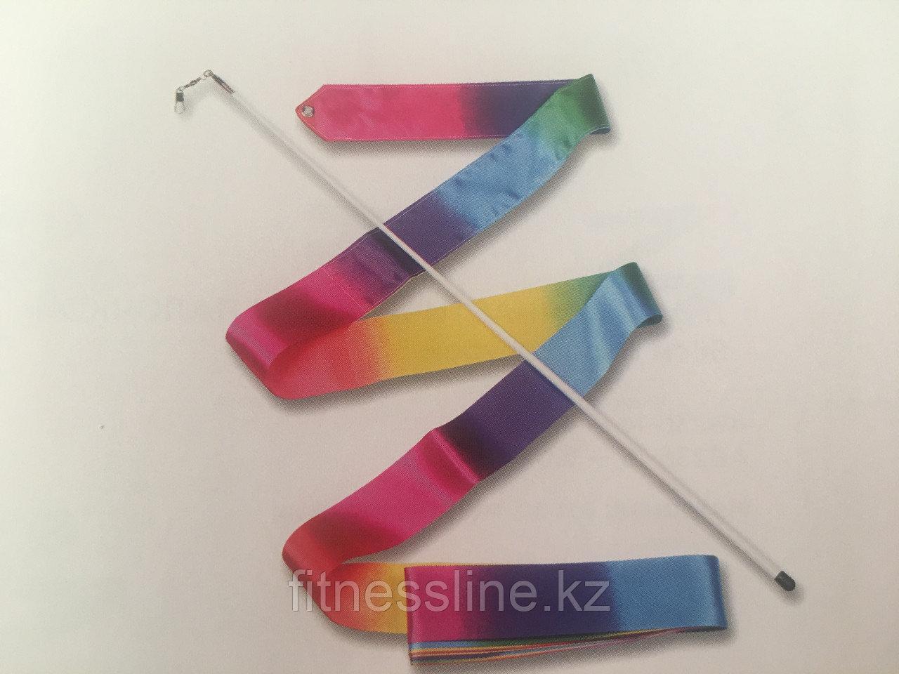 Лента для художественной гимнастики-радуга
