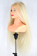 Голова-манекен с торсом блонд волос натуральный (85%) - 70 см