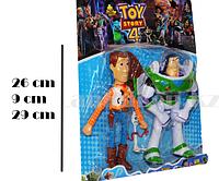 """Набор из двух игрушек персонажи из """"История игрушек 4"""" (Ковбой Вуди, Астронавт Базз Лайтер, Вилкинс)"""