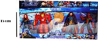 Мстители (Avengers) набор фигурок ( Вдова, Железный человек, Человек паук, Доктор Стрендж)