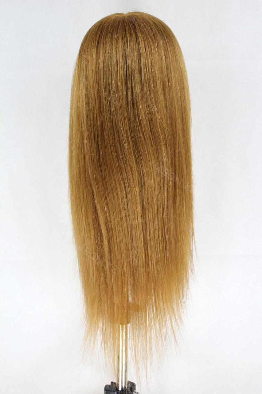 Голова-манекен русый волос натуральный животный - 60 см - фото 4