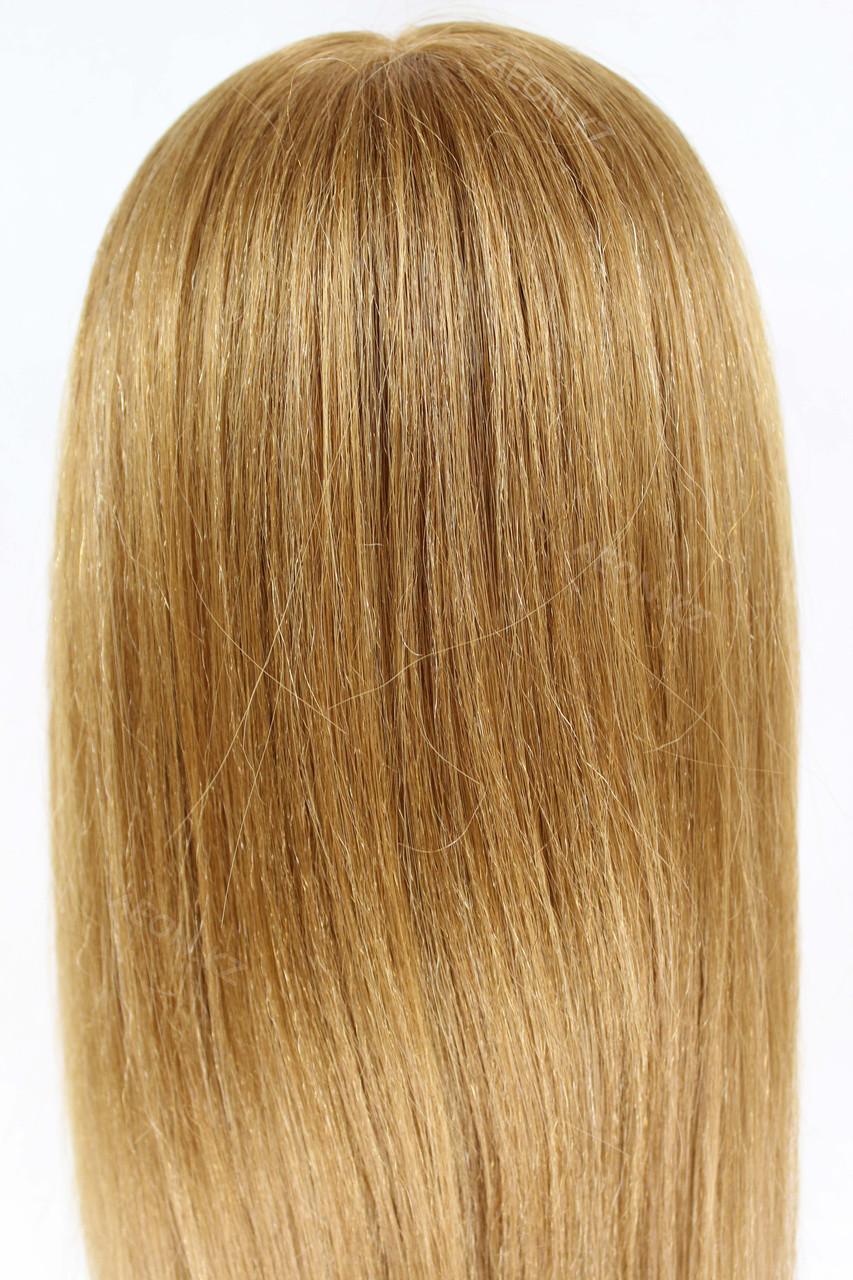 Голова-манекен русый волос натуральный животный - 60 см - фото 5