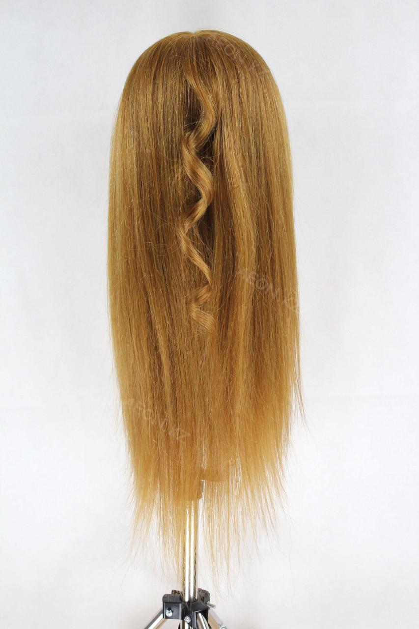 Голова-манекен русый волос натуральный животный - 60 см - фото 6