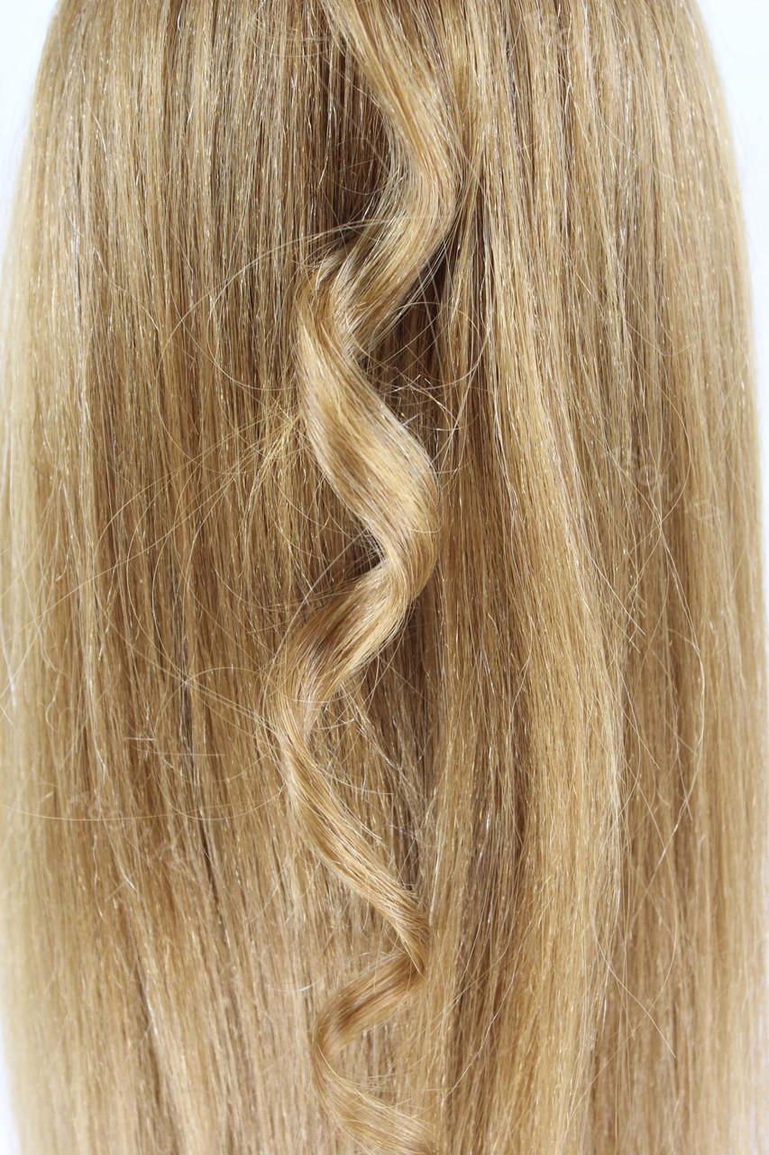 Голова-манекен русый волос натуральный животный - 60 см - фото 7