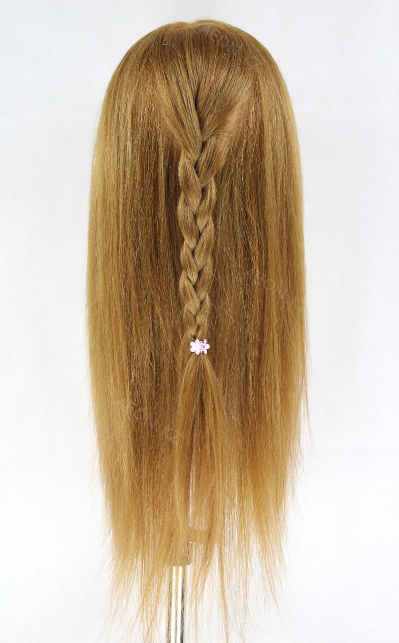 Голова-манекен русый волос натуральный животный - 60 см - фото 8