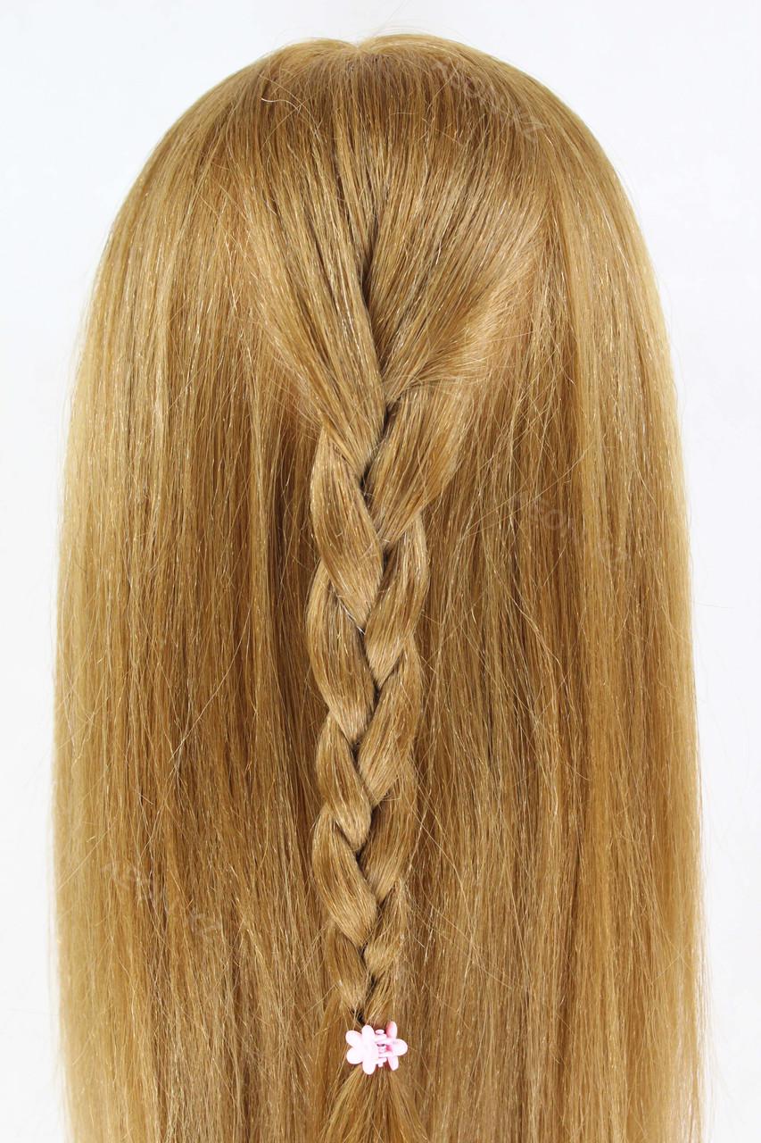Голова-манекен русый волос натуральный животный - 60 см - фото 9