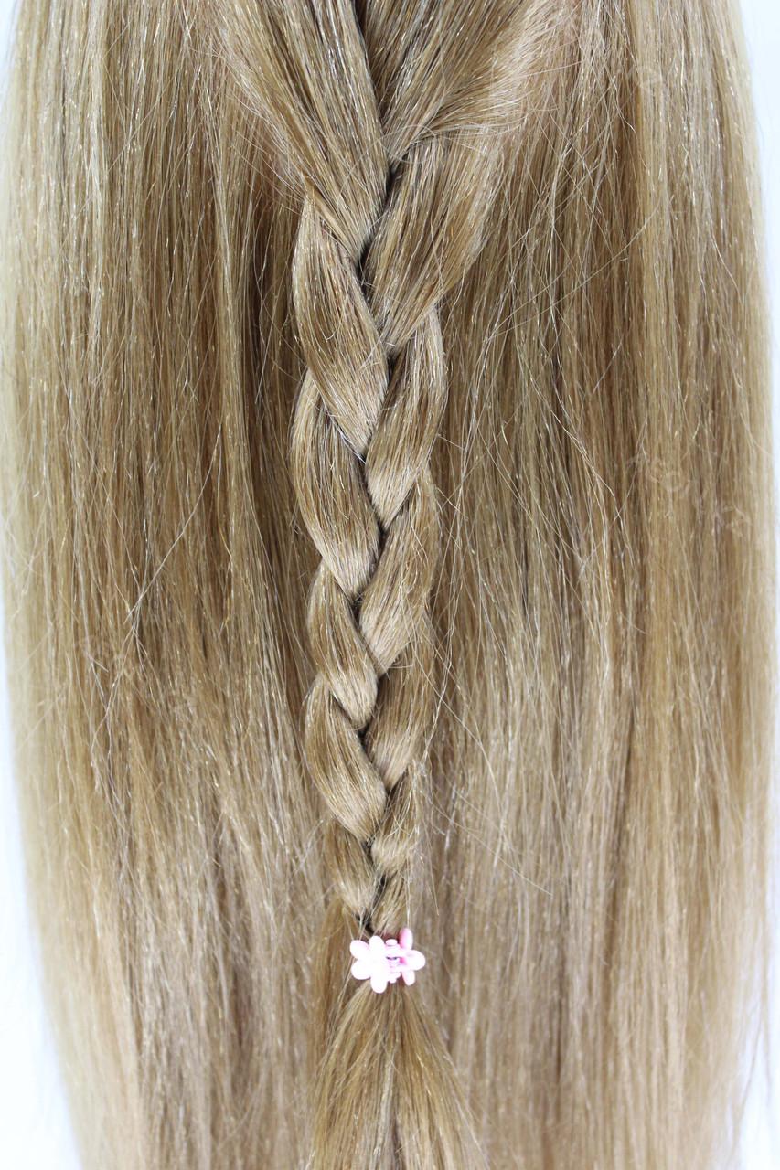 Голова-манекен русый волос натуральный животный - 60 см - фото 10