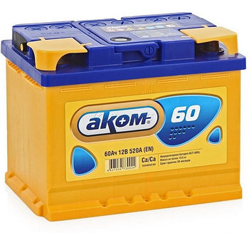 Аккумулятор для автомобиля АКОМ 60