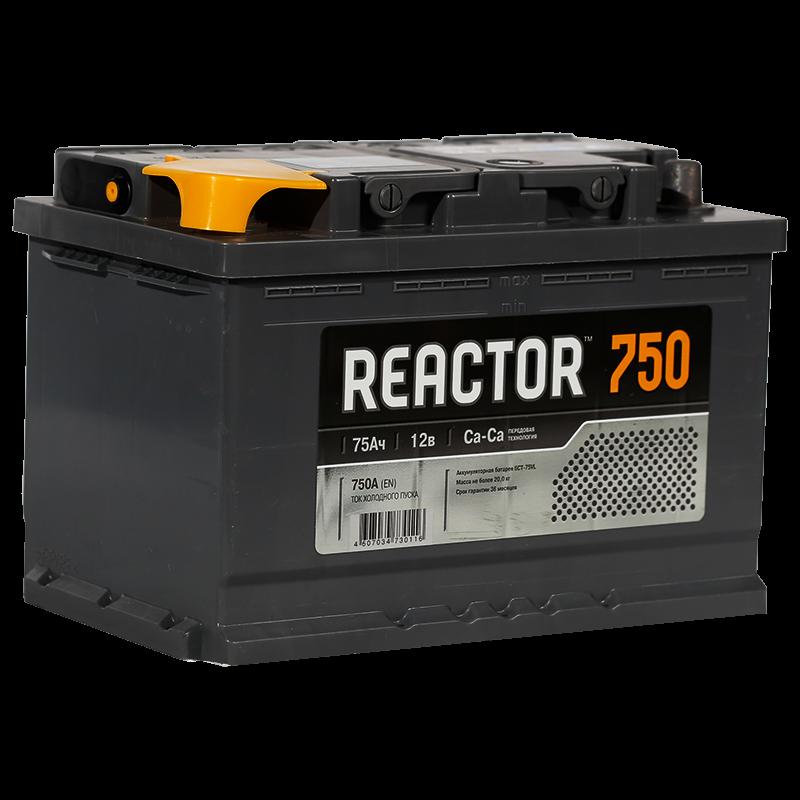 Аккумулятор автомобильный REACTOR 75