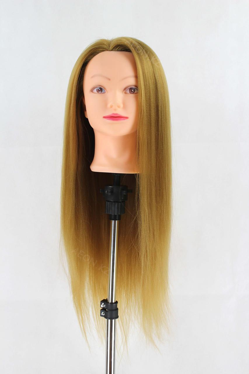 Голова-манекен русый волос искусственный - 60 см