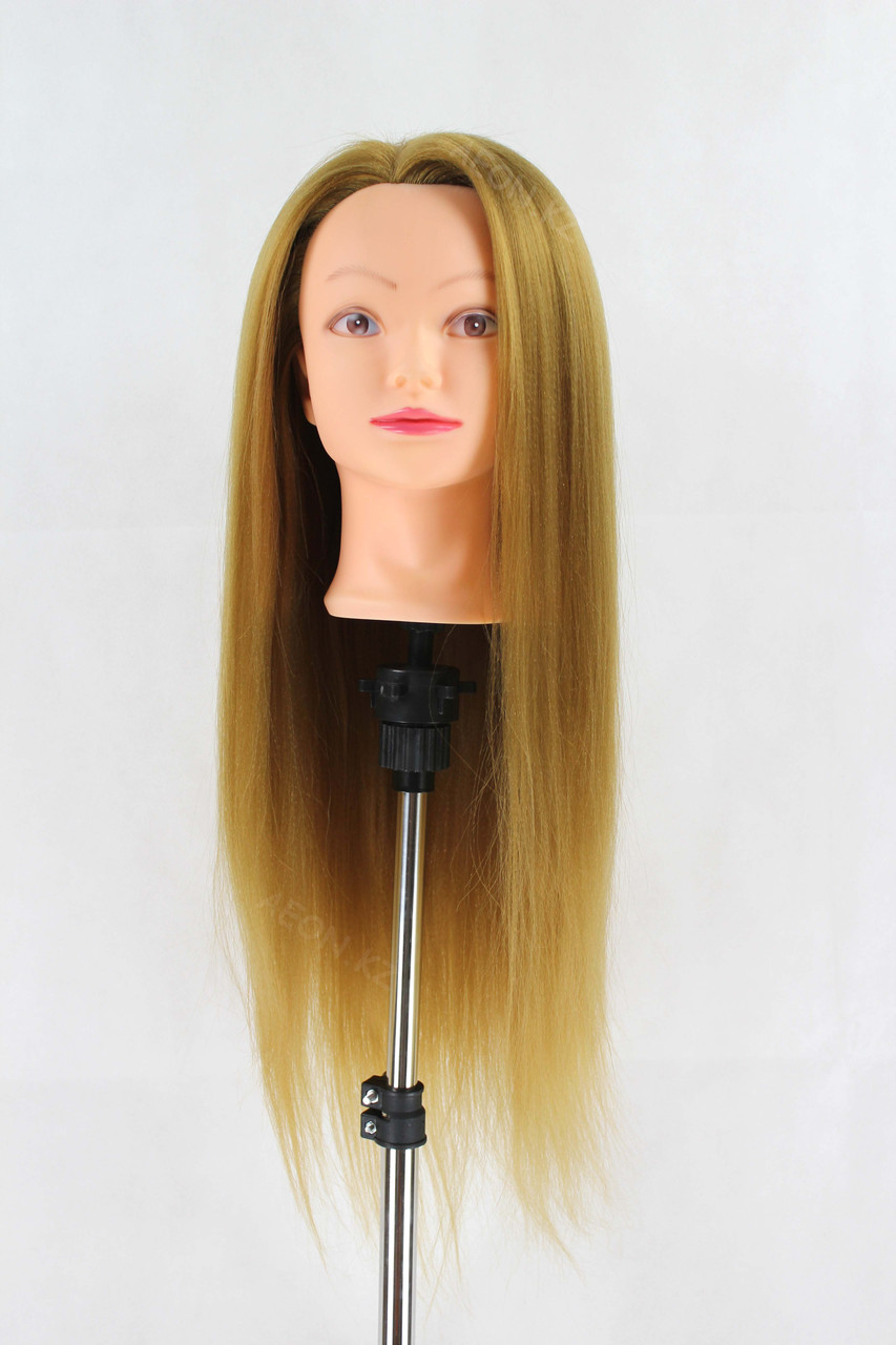 Голова-манекен русый волос искусственный - 60 см - фото 1