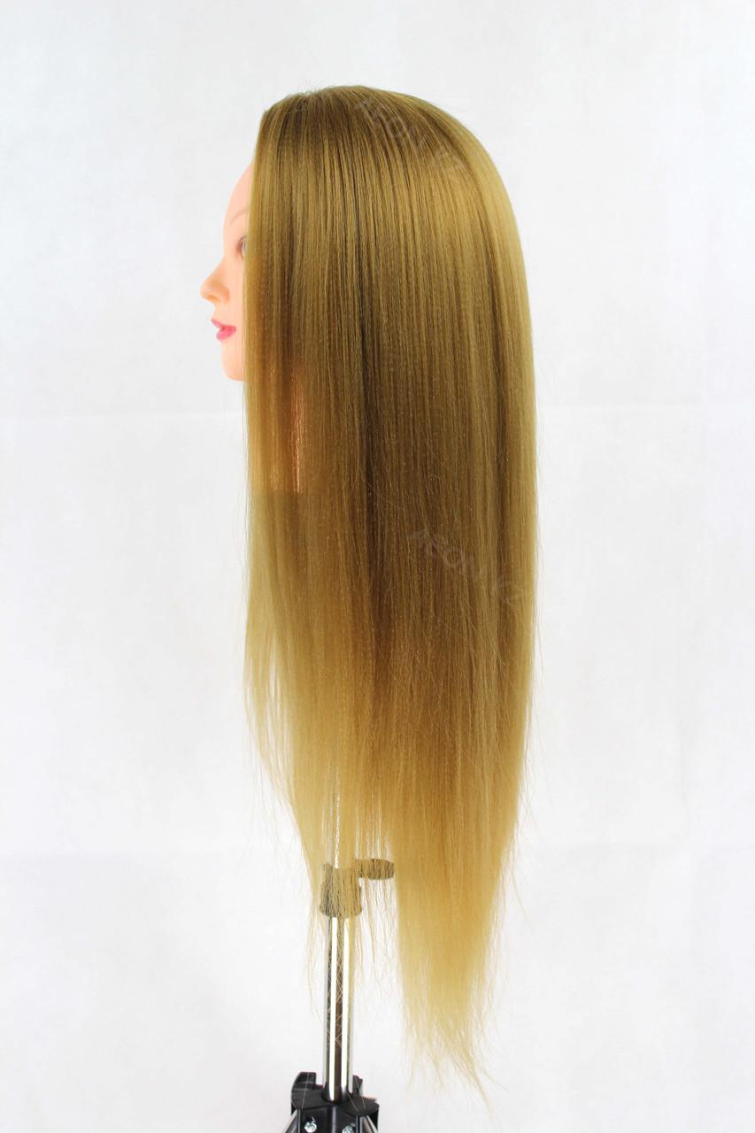 Голова-манекен русый волос искусственный - 60 см - фото 3