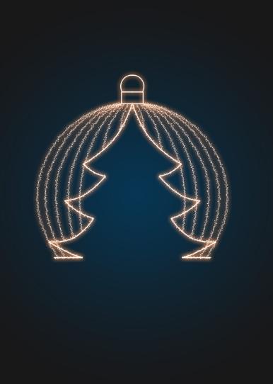 Новогодняя Арка Светящийся шар c eлочкой - 3D GR 20