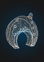 Световая арка Елочная игрушка с салютом - 3D GR 24