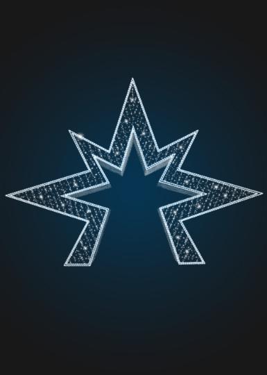 Световая арка Звезда - 3D GR 09