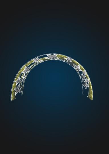 Световая арка Звезды в мишуре - 3D GR 13