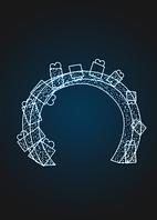 Световая арка с подарками - 3D GR 23