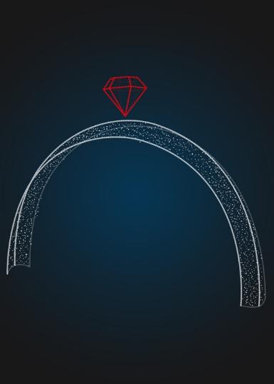 Уличная новогодняя арка с алмазом - 3D GR 04