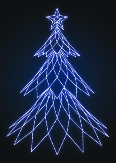 Елка новогодняя Полигональная - SP 01