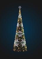Новогодняя каркасная елка со снежинками - 3D SE 74