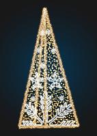ОПК Елка светодиодная со снежинками - 3D SE 63