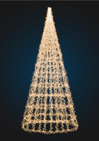 Новогодний конус с гирляндами - 3D SE 62