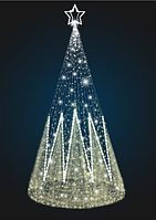 Световая конусная елка - 3D SE 57