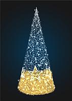 Новогодняя Конус-елка со звездами - 3D SE 60