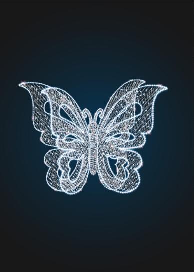 Световая фотозона Бабочка - 3D ST 45