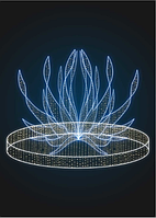 Световой новогодний фонтан Огниво - FON 24